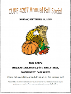 CUPE 4207 Fall Social