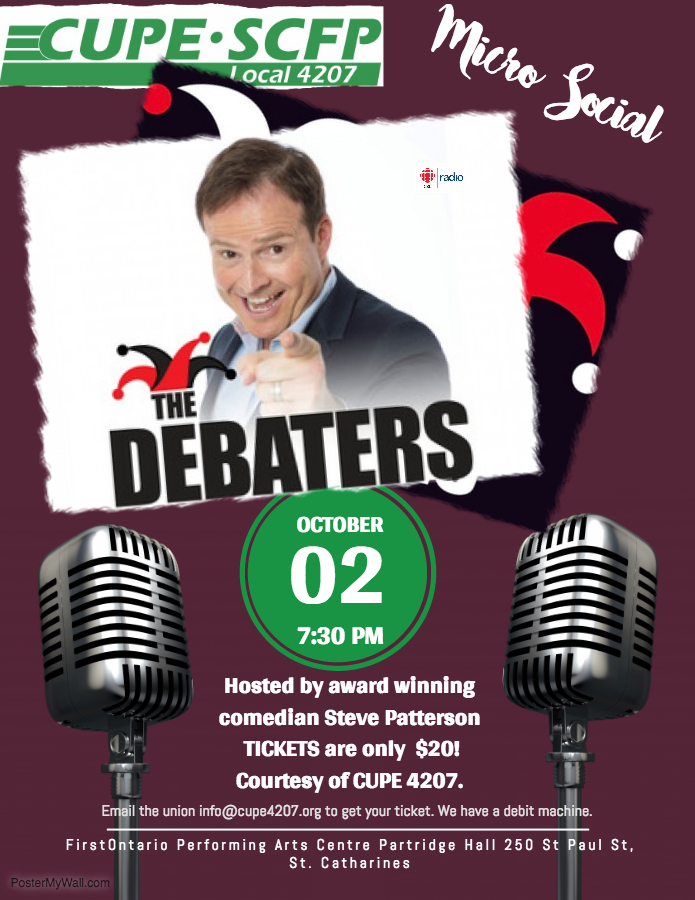 MicroSocial #2: The Debaters @ FirstOntario Performing Arts Centre | St. Catharines | Ontario | Canada