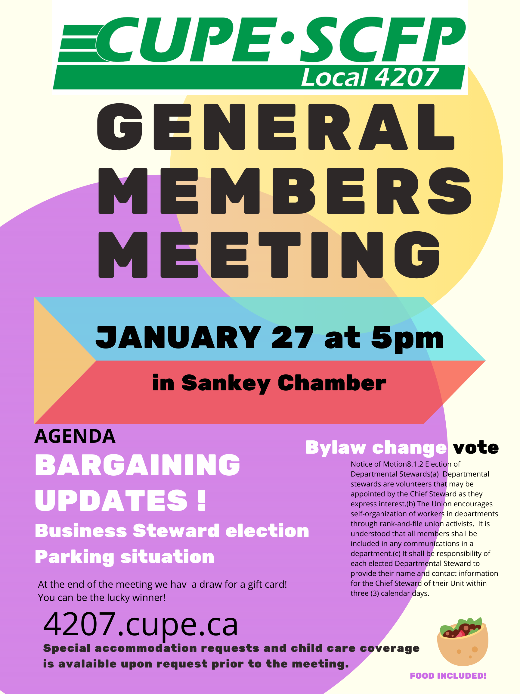 General Membership Meeting @ Sankey Chamber